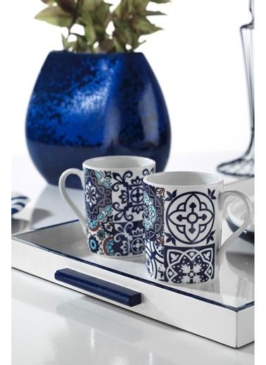 Kütahya Porselen Mug Bardak 9429 Renkli